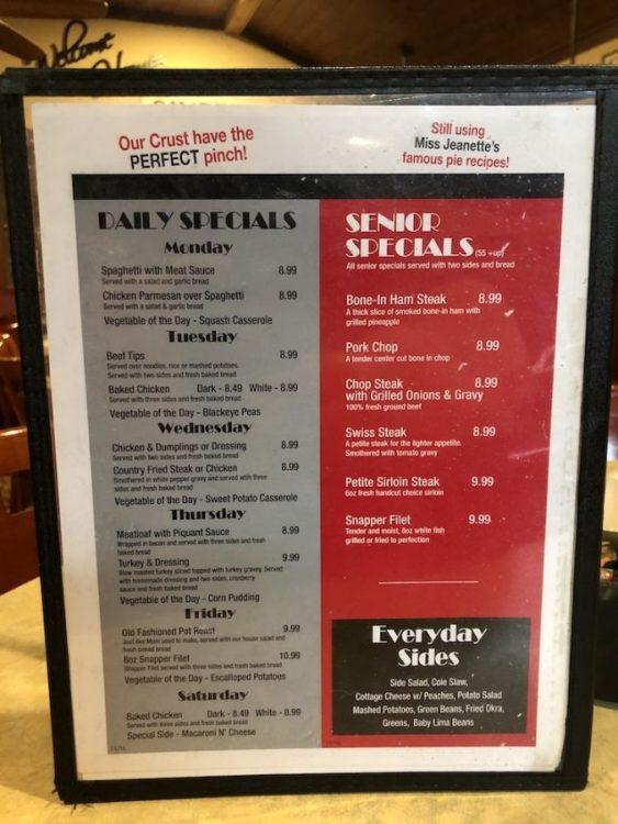Reececliff Family Diner Menu Specials
