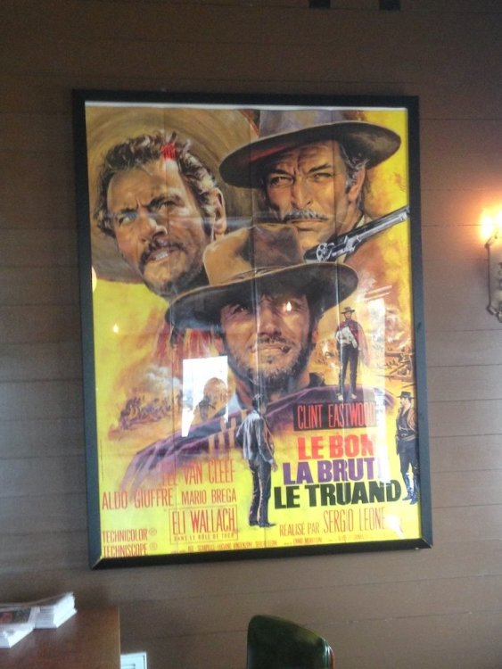 The Good, the Bad & the Ugly Poster in Italian
