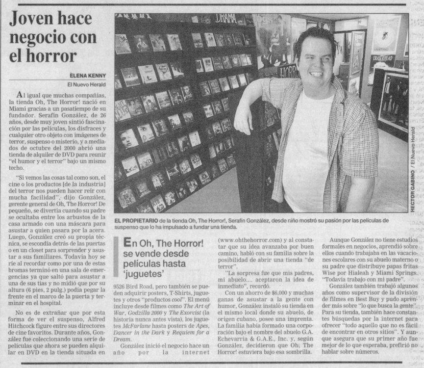 OTH in El Nuevo Herald