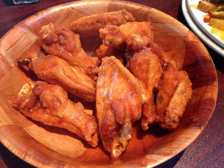Chicken Wings tossed in Hot Sauce