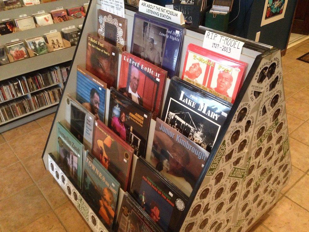 Fat Possum LPs Display