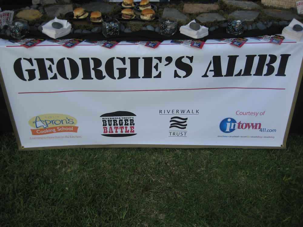 Riverwalk Burger Battle 2010 Georgie's Alibi booth banner