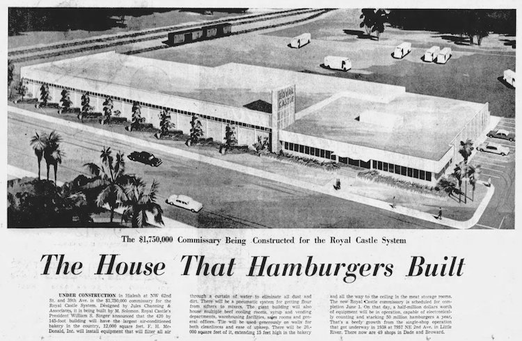 Commissary in the Miami Herald 1-19-58