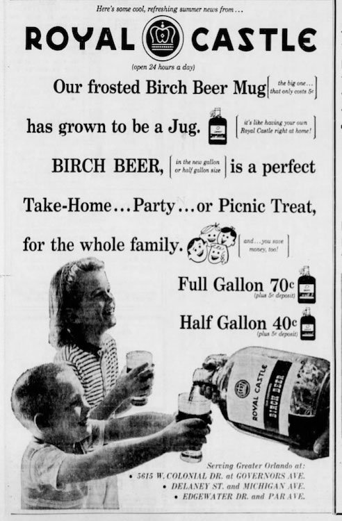 Birch Beer ad from the Orlando Sentinel 7-17-59
