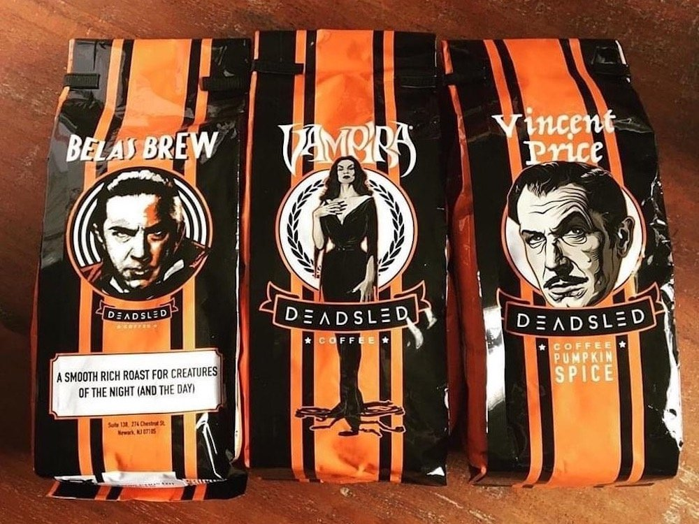 Deadsled Coffee featuring Bela Lugosi, Vampira & Vincent Price