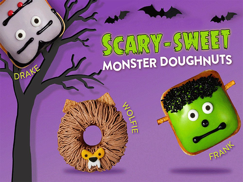 Scary-Sweet Monster Doughnuts from Krispy Kreme