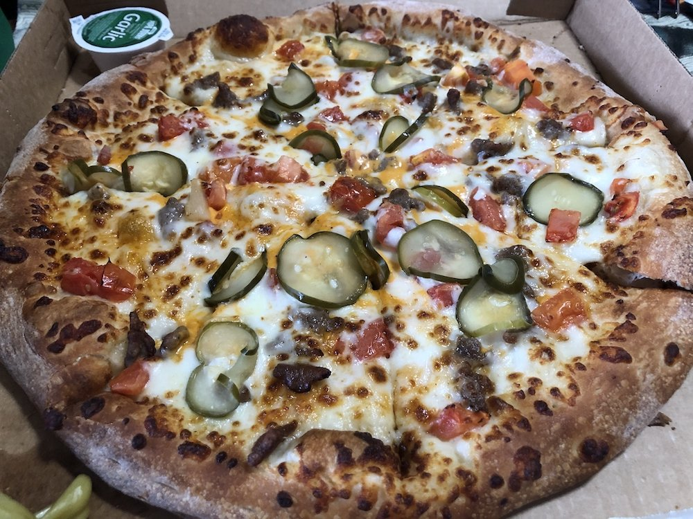 Papa John's Cheeseburger Pizza
