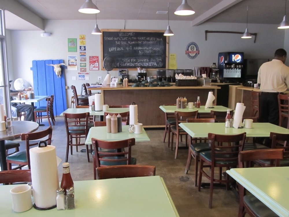 Inside of Sparky's Roadside Barbecue