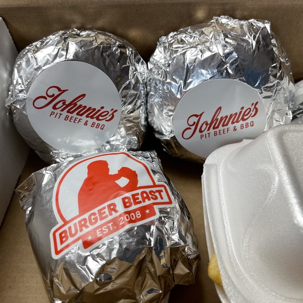 Wrapped Johnnie's & Burger Beast Burgers