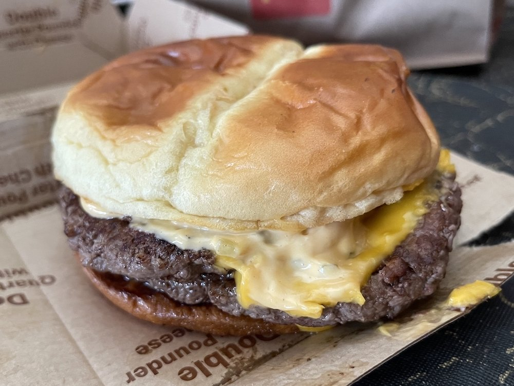 McDonald's Quarter Pounder on Artisan Potato Bun with Big Mac Sauce