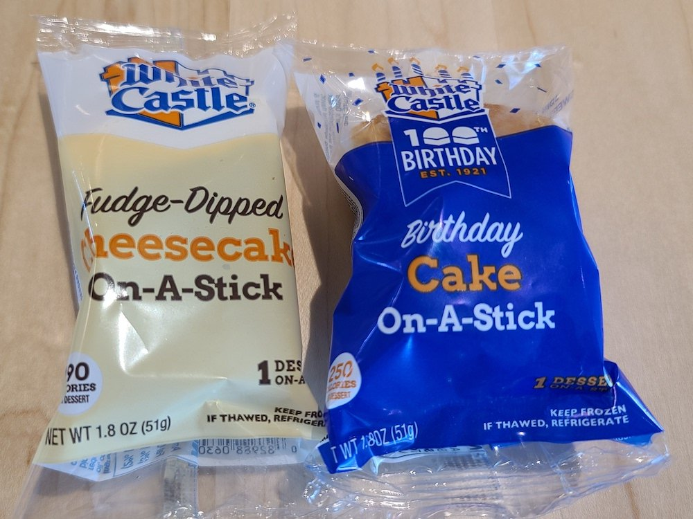 White Castle Cakes on a Stick