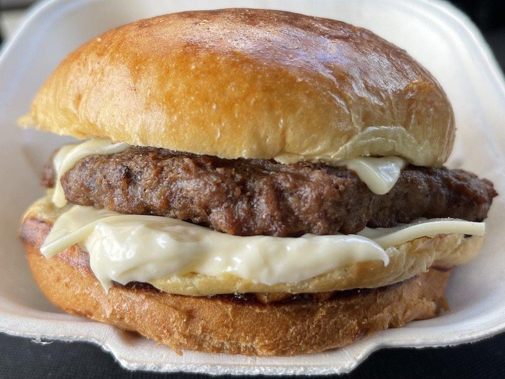Cheeseburger with Ketchup, Mustard & Mayo