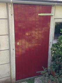 Poortdeur klaar