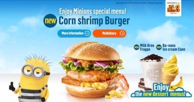 McDonald's Corn Shrimp Burger