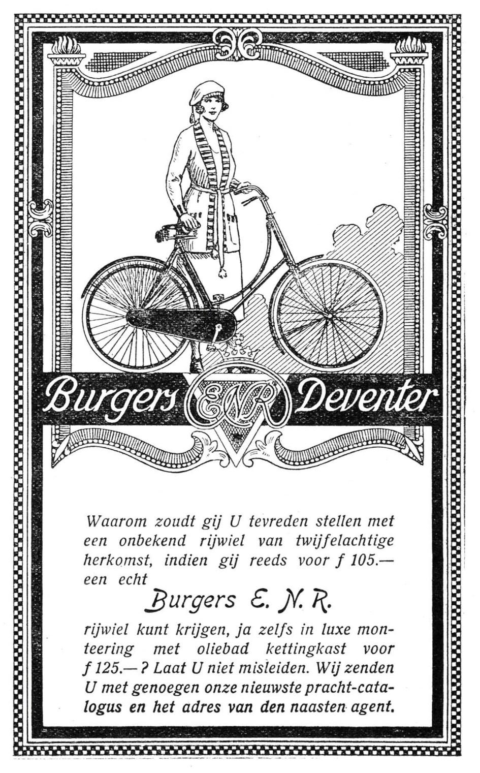 Advertentie Burgers ENR