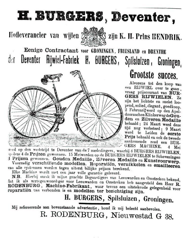 Advertentie Burgers. Leeuwarder Courant 21-07-1890