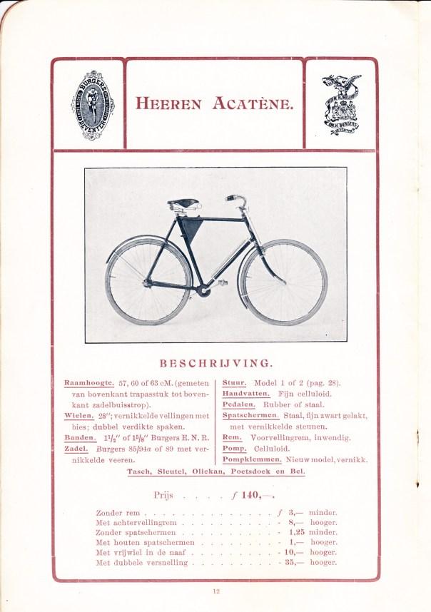 afb 32 heren acatene, catalogus 1906-