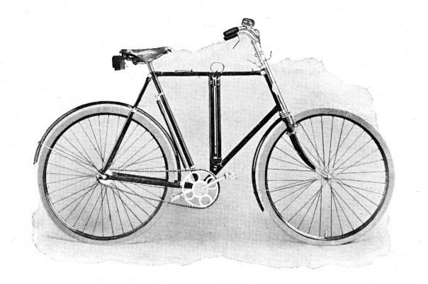 Opvouwbaar rijwiel uit de catalogus van 1909.
