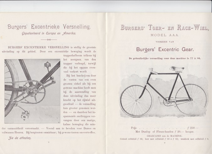 Excentric gear catalogus 1897