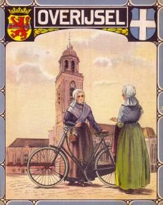 Burgers fietskaart 1927 Overijssel