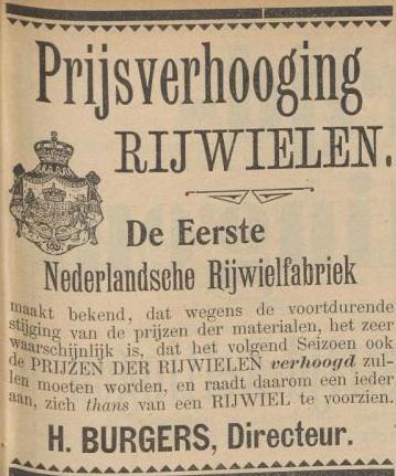 Advertentie Burgers. kampioen 2 febr.1900