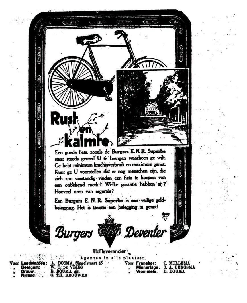 Advertentie Burgers. leeuw cour 07-05-1924