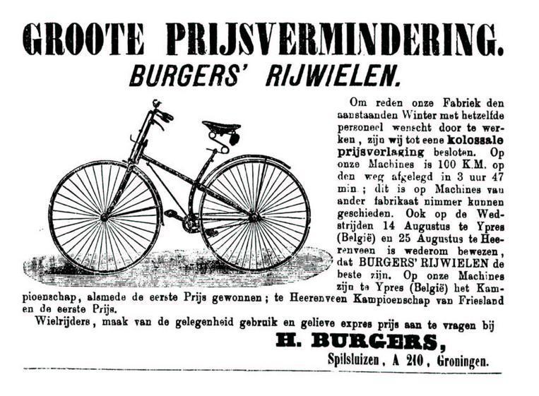 Advertentie Burgers. Leeuwarder Courant 12-09-1892