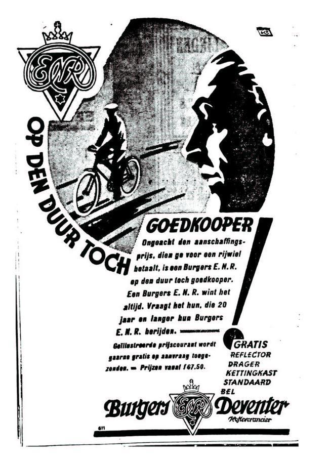 Advertentie Burgers. leeuw cour. 14-04-1930