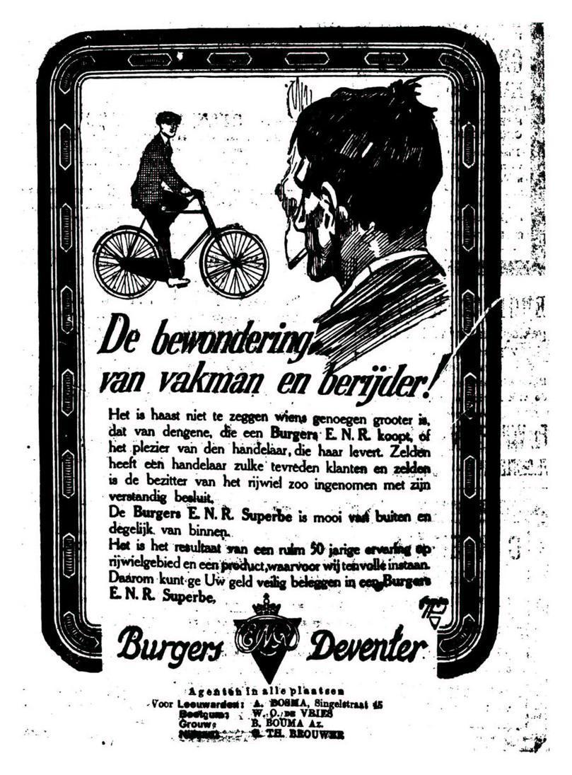 Advertentie Burgers. leeuw cour. 20-03-1924