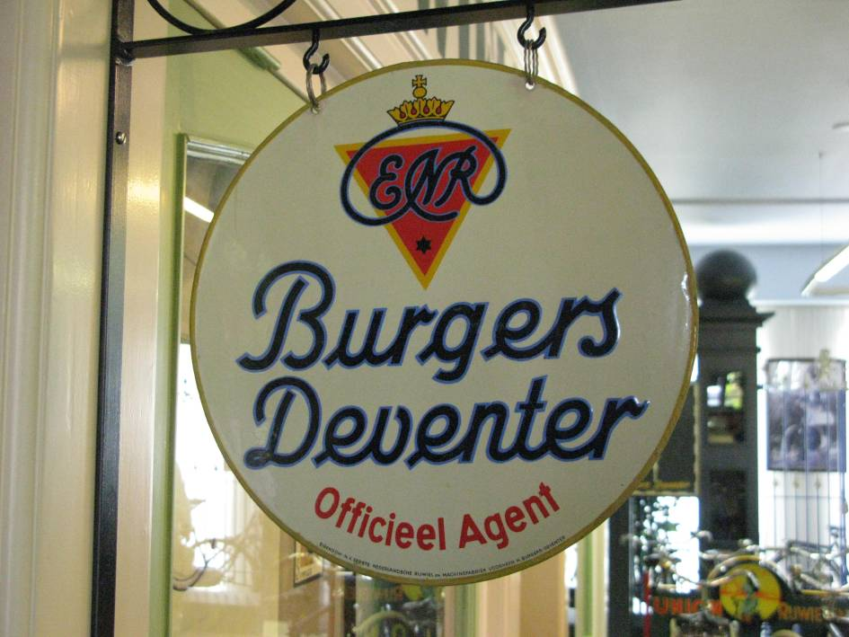Burgers ENR Reclame bord emaille dealer