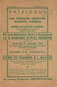 Katalogus veiling 1961