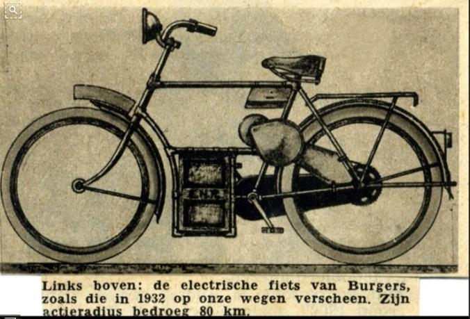 Herenmodel Burgers electrische fiets.