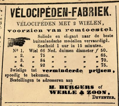 Advertentie Deventer courant 5 maart 1869.