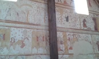 Détail d'une peinture murale de l'église de Moutiers-en-Puisaye