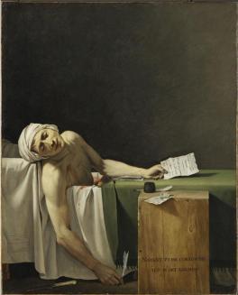 Jacques-Louis David, Marat assassiné, huile sur toile, Musée du Louvre, Paris. ©RMN-Grand Palais (musée du Louvre) / Martine Beck-Coppola