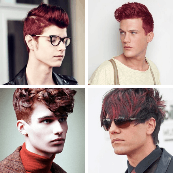 Burgundy Hair for Men mens fall outfits casual how to improve dressing sense male autumn style