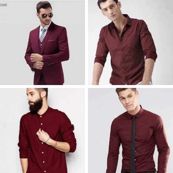 Wine Shirt Combination mens fashion casual autumn style mens dressing styles formal mens work style