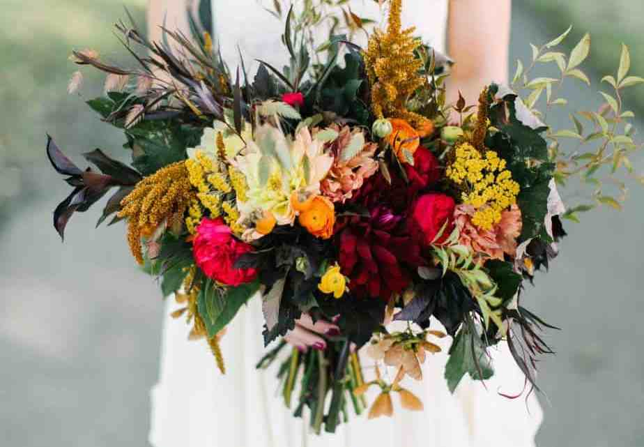 What Color Goes Best With Yellow Wedding theme? Burgundy Color Scheme Ideas To Copy In