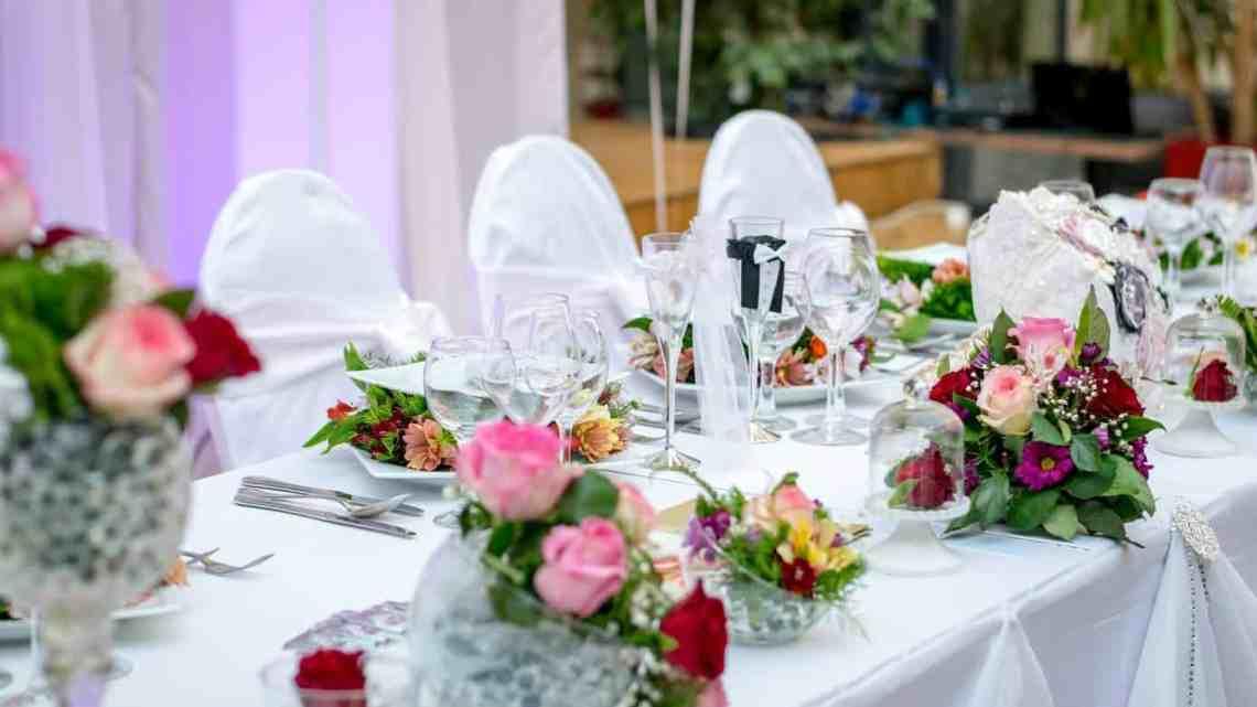dinner roses decoration wedding