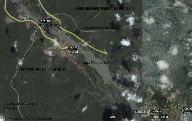 La autopista Centenario es una carretera construida a través del Parque Nacional Camino de Cruces y la Reserva Forestal de Arraiján para unir las ciudades de Panamá y Arraiján