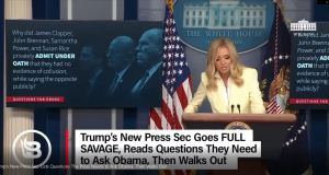 Trump's New Press Secretary, Kayleigh McEnany, listed questions that the press needs to ask Obama about Obamagate, then walked out of the press room.  It's about time the gloves came off!