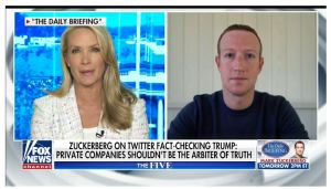 ZUCKERBERG IS WORRIED: Zuckerberg knocks Twitter for fact-checking Trump, says private companies shouldn't be 'the arbiter of truth'