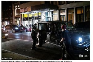 Looters in NYC were 'dropped off in luxury cars with power tools and suitcases' and 'used stolen U-Hauls' for coordinated attacks – as officials across the U.S. blame 'organized crime' for the chaos