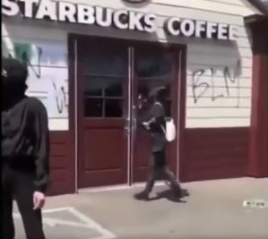 ANTIFA Terrorists Hijack Peaceful March and Vandalize Building.  Don't Let the Media Fool You.