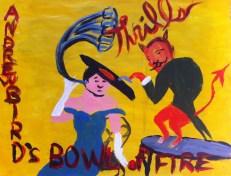"Bird Thrills: 8.5"" x 11"", acrylic on paper, based off http://www.amazon.com/Thrills-Andrew-Bird-Bowl-Fire/dp/B000005Z5S"
