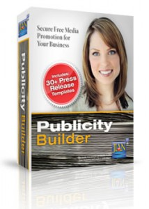 Publicity Builder public relations management software and press release templates