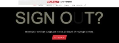 Burkhart Sign Out Online Sign Service Submital Page