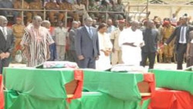 L'État représenté au plus haut niveau par le président Kafando