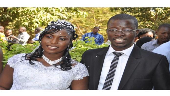 Le tout nouveau couple Bertille et Adama Bayala