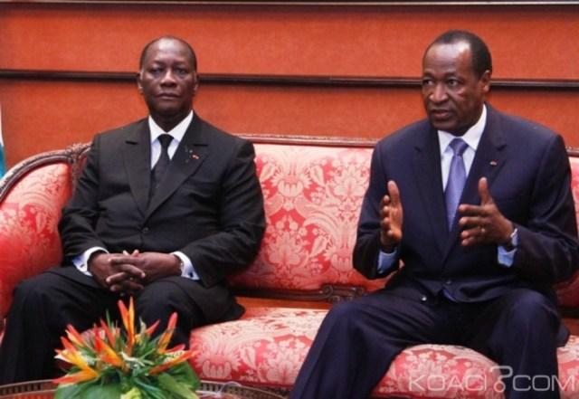 Le sort judiciaire de l'ancien président Blaise Compaoré (à droite) devrait figurer au menu des échanges avec les autorités burkinabè